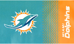 NFL Miami Dolphins Fan Flag - 3 x 5 ft. / 90 x 150 cm