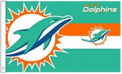 NFL Miami Dolphins Logo Flag - 3 x 5 ft. / 90 x 150 cm