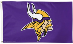 NFL Minnesota Vikings Flag - 3 x 5 ft. / 90 x 150 cm