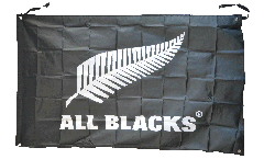 New Zealand ALL BLACKS Flag - 3 x 5 ft. / 90 x 150 cm