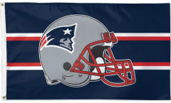 NFL New England Patriots Helmet Flag - 3 x 5 ft. / 90 x 150 cm