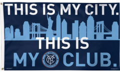 MLS New York City FC Flag - 3 x 5 ft. / 90 x 150 cm