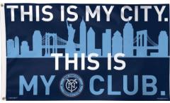 MLS New York City FC Flag - 3 x 5 ft. / 90 x 150 cm