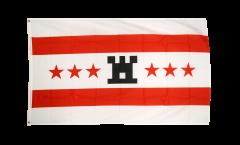 Netherlands Drenthe Flag - 3 x 5 ft. / 90 x 150 cm