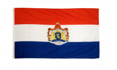 Netherlands with coat of arms Flag - 3 x 5 ft. / 90 x 150 cm