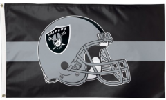 NFL Oakland Raiders Helmet Flag - 3 x 5 ft. / 90 x 150 cm