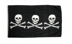 Pirate 3 skulls Flag - 3 x 5 ft. / 90 x 150 cm