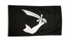 Pirate arm with sword Flag