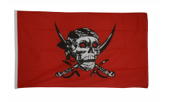 Pirate on red shawl Flag