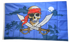 Pirate dark night Flag - 3 x 5 ft. / 90 x 150 cm
