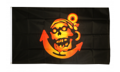 Pirate golden with Anchor Flag - 3 x 5 ft. / 90 x 150 cm