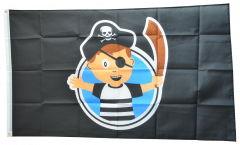 Pirate Boy Flag - 3 x 5 ft. / 90 x 150 cm