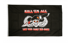 Pirate Kill'em all Flag - 3 x 5 ft. / 90 x 150 cm