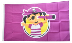 Pirate Girl Flag - 3 x 5 ft. / 90 x 150 cm