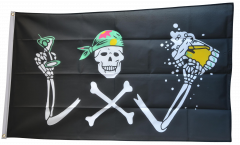 Pirate with beer Flag - 3 x 5 ft. / 90 x 150 cm