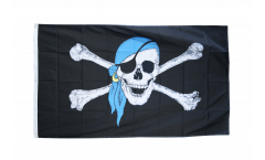 Pirate with blue bandana Flag - 3 x 5 ft. / 90 x 150 cm
