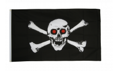 Pirate with red eyes Flag