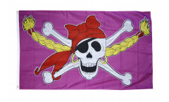 Pirate Princess Flag - 3 x 5 ft. / 90 x 150 cm