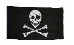 Pirate Skull and Bones Flag