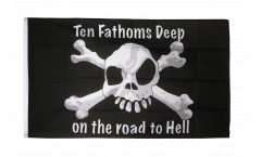 Pirate ten fathoms deep Flag - 3 x 5 ft. / 90 x 150 cm