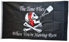 Pirate The Time Flies When You Are Having Fun Flag