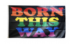 Rainbow Born This Way Flag - 3 x 5 ft. / 90 x 150 cm