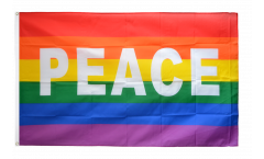 Rainbow with PEACE Flag - 3 x 5 ft. / 90 x 150 cm