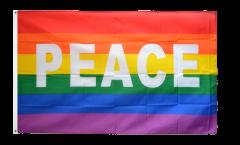 Rainbow with PEACE Flag
