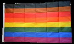 Rainbow More Colour More Pride Flag