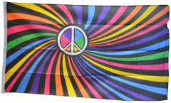 Rainbow Peace Swirl Flag - 3 x 5 ft. / 90 x 150 cm