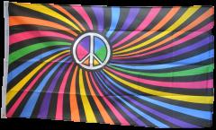 Rainbow Peace Swirl Flag
