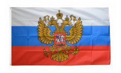 Russia with coat of arms Flag