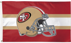 NFL San Francisco 49ers Helmet Flag - 3 x 5 ft. / 90 x 150 cm