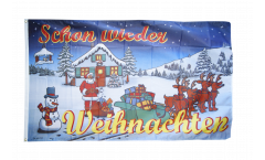 Christmas Schon wieder Weihnachten Flag