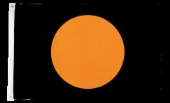Black with orange circle Flag - 2 x 3 ft.