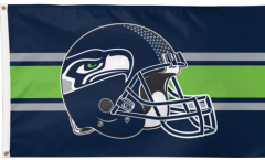 NFL Seattle Seahawks Helmet Flag - 3 x 5 ft. / 90 x 150 cm