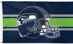 Seattle Seahawks Helmet Flag
