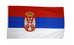 Serbia with coat of arms Flag