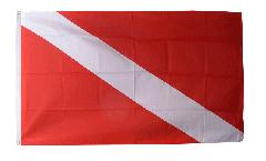 Diver Down Scuba Diving Flag - 3 x 5 ft. / 90 x 150 cm