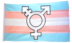 Transgender Pride Symbol Flag - 3 x 5 ft. / 90 x 150 cm