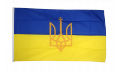 Ukraine with coat of arms Flag