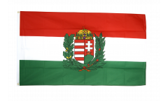 Hungary with coat of arms Flag
