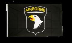 USA 101st Airborne Flag, black - 3 x 5 ft. / 90 x 150 cm