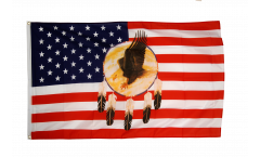 USA Eagle Dreamcatcher Flag - 3 x 5 ft. / 90 x 150 cm