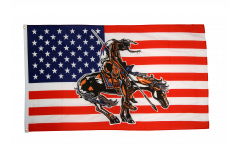 USA end of trail Flag - 3 x 5 ft. / 90 x 150 cm