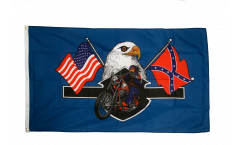 USA Highway Hero Biker Flag - 3 x 5 ft. / 90 x 150 cm