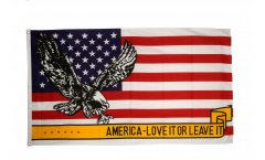 USA Love it or leave it Flag - 3 x 5 ft. / 90 x 150 cm