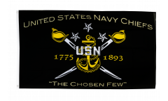 USA Navy Chiefs - The Chosen few Flag - 3 x 5 ft. / 90 x 150 cm