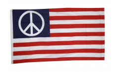 USA PEACE Flag - 3 x 5 ft. / 90 x 150 cm