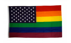 USA Rainbow Flag - 3 x 5 ft. / 90 x 150 cm